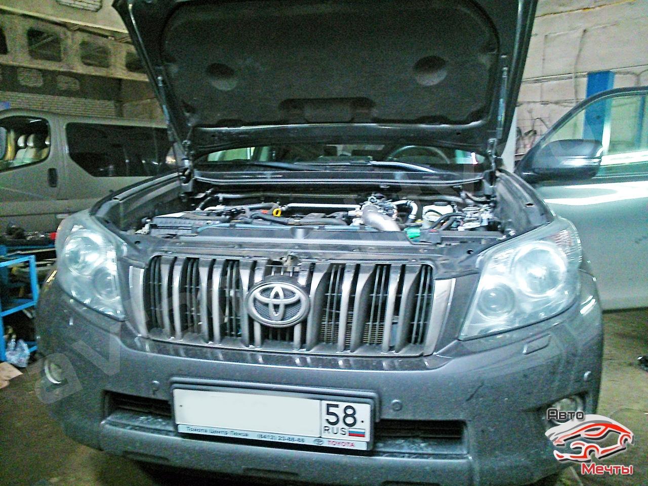 Чип-тюнинг Toyota Land Cruiser Prado, физическое удаление сажевого фильтра DPF, программное отключение системы EGR, увеличение мощности Stage-1