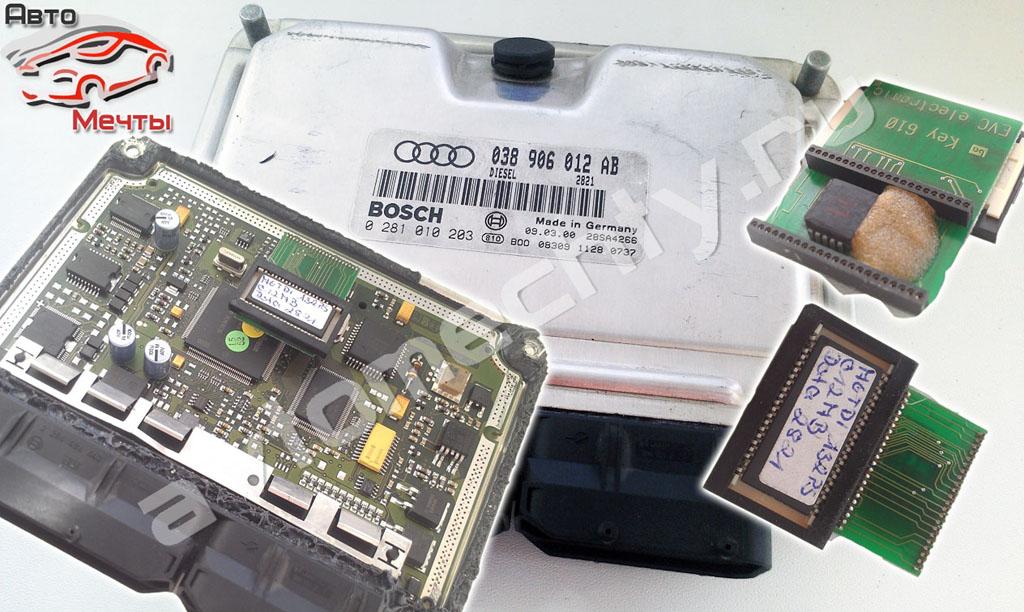 Электронный блок управления двигателем EDC15 авто Audi A4 1.9TDI