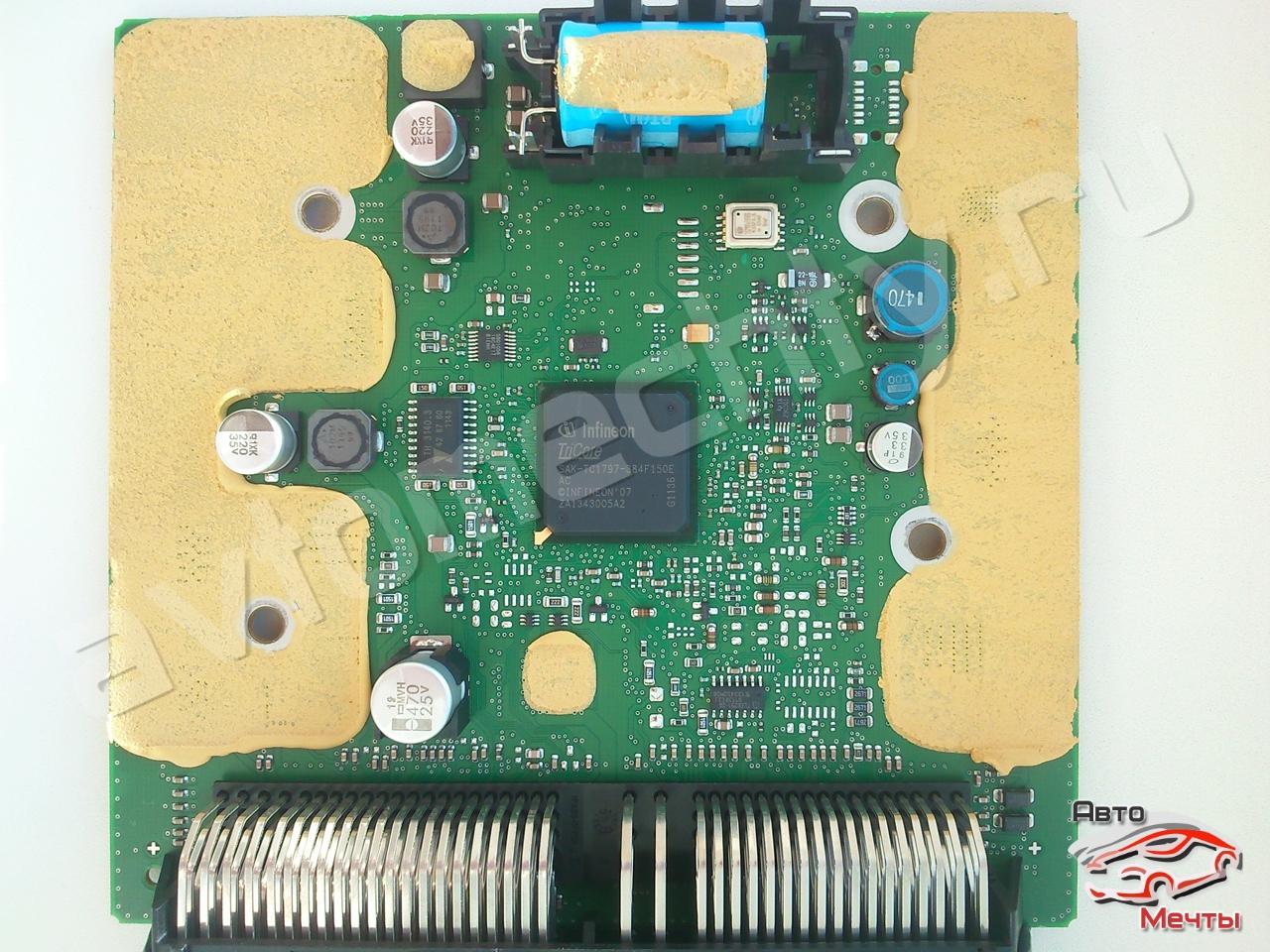 Печатная плата Continental Simos 12.1 с процессором TC1797 семейства TriCore