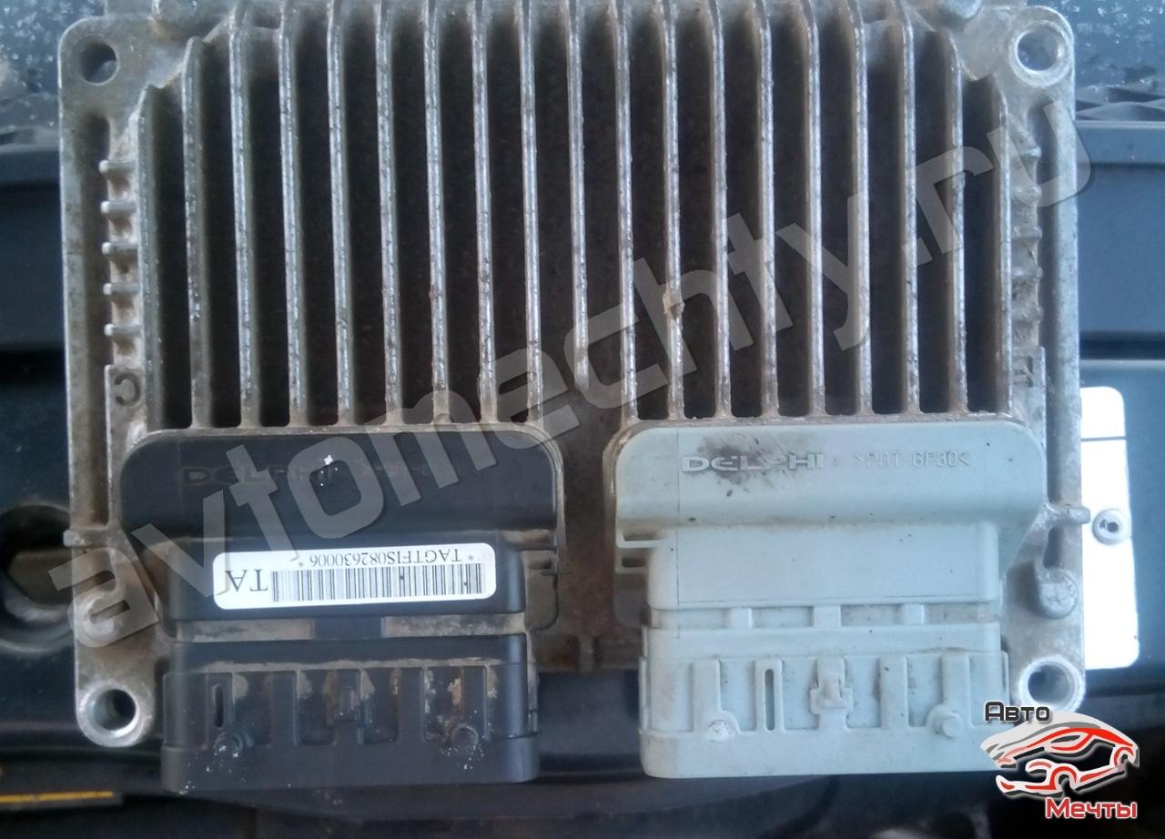 Электронный блок управления двигателем Delphi MT 80 автомобиля CHEVROLET AVEO 1.4L 2008г.в. (каталожный номер 96802693)