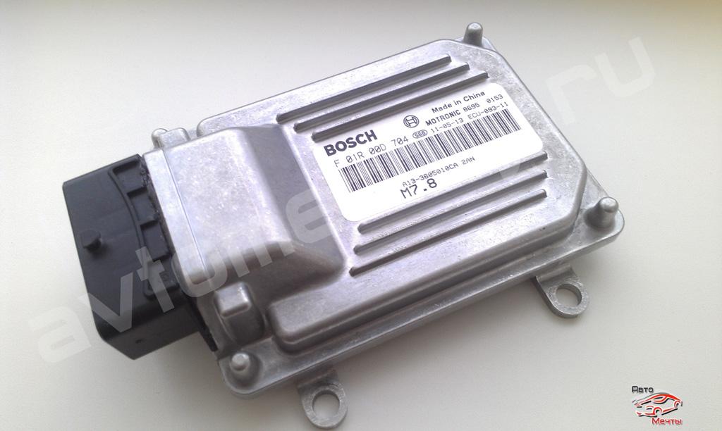 Электронный блок управления Bosch M7.8 двигателем A13-3605010CA, устанавливаемый на Chery Fora A13, Geely Emgrand с двигателем 1.8L