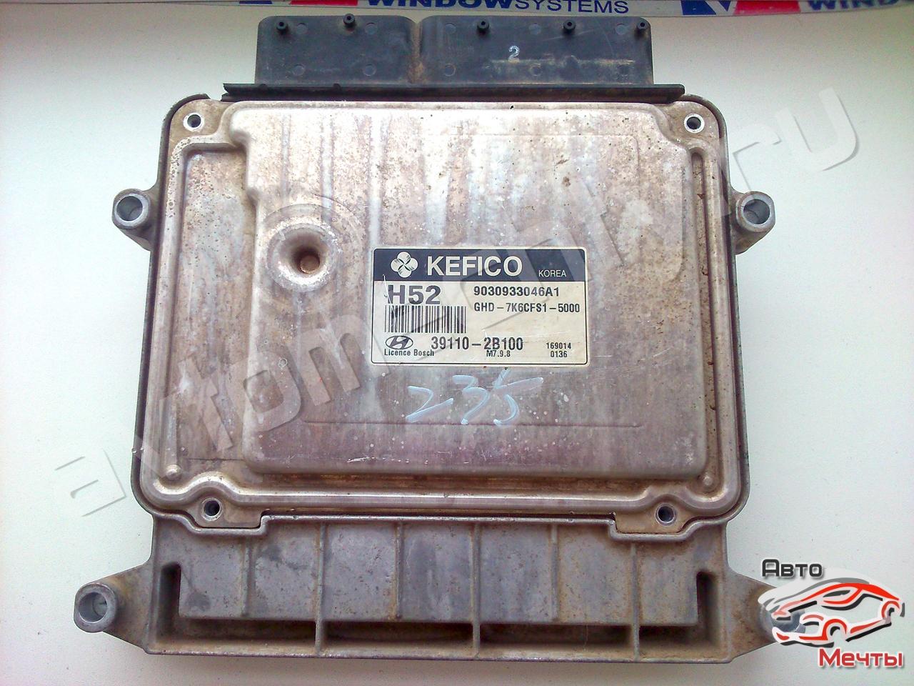 Электронный блок управления двигателем Bosch M7.9.8 авто Hyundai Elantra 1.6L (каталожный номер 39110-2B100)