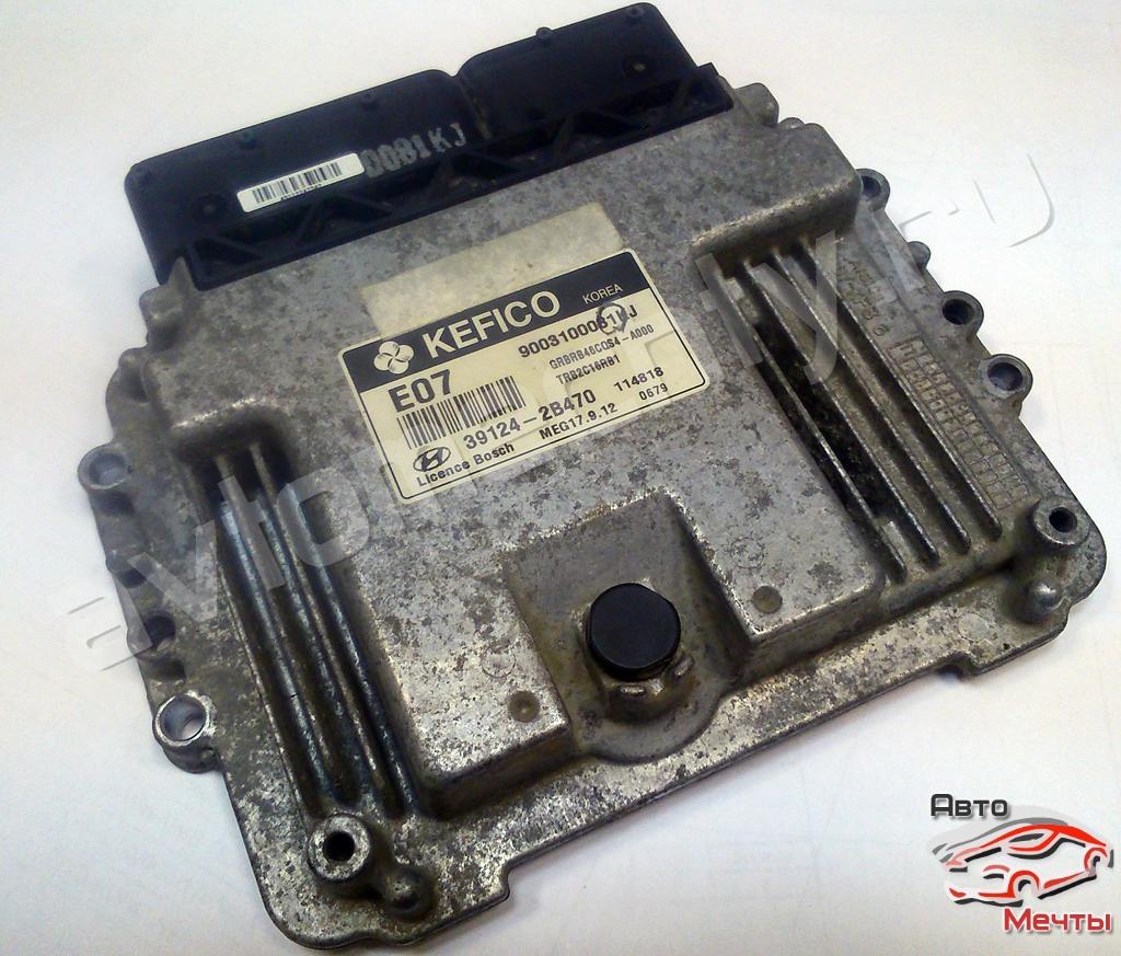 Электронный блок управления двигателем Bosch MEG17.9.12 авто Hyundai Solaris 1.6L (каталожный номер 39124-2B470)