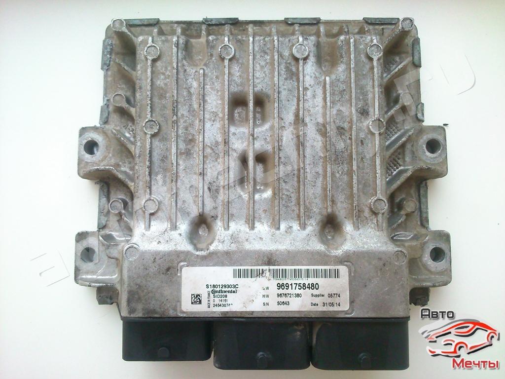 Электронный блок управления двигателем Continental SID208 автомобилей Citroen Jumper, Fiat Ducato, Ford Transit и Peugeot Boxer. Каталожный номер HW: 9676721380 SW: 9691758480, S180129001E.