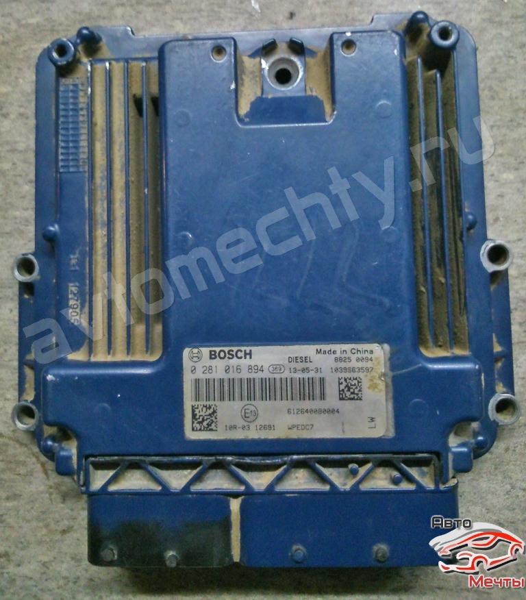 Электронный блок управления двигателем Bosch EDC17 самосвала Shacman WP E40